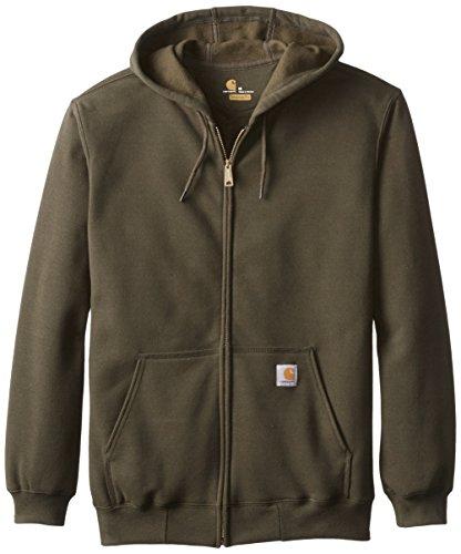 Carhartt K122 Midweight Hooded Zip Front Sweatshirt - Kapuzenjacke (XL, olivgrün) K122 Zip-front Sweatshirt
