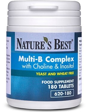 Multi B Complex - good spread of B vitamins including folic acid- 100% UK-made, 180 tablets by Nature's Best