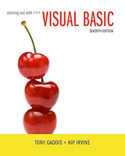 Starting Out with Visual Basic Plus MyProgrammingLab with Pearson eText -- Access Card Package (7th Edition) by Tony Gaddis (2016-04-01)