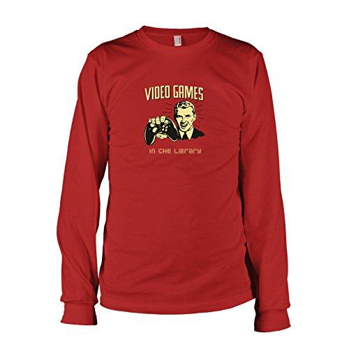 TEXLAB - Library Gaming - Herren Langarm T-Shirt, Größe XXL, rot (Ratchet Clank Kostüm)