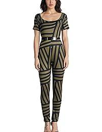 EOZY Femmes Rompers Imprimé Fleur Soirée Combinaison Jumpsuit Pantalons #5 Size3
