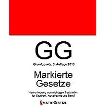 GG, Grundgesetz, Smarte Gesetze, Markierte Gesetze: Hervorhebung von wichtigen Textstellen für Studium, Ausbildung und Beruf
