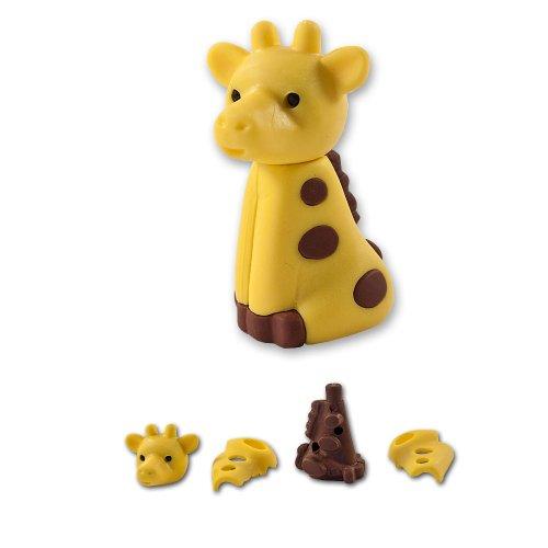 süsse gelbe Giraffe Puzzel Radiergummi aus Japan von Iwako