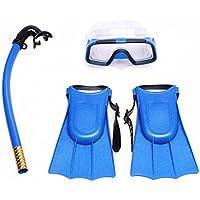 Kit de plongée à tuba Hinmay de qualité supérieure pour enfant - Masque anti-buée, tuba et palmes