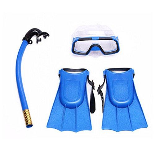 Lionina Kinder Schnorcheln Set Schnorchel Maske Skibrille Flossen Scuba Schwimmen Tauchen Junior Kids Set, Blau (Maske Tauchen Junior)