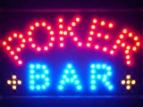 LAMPE NEON ENSEIGNE LUMINEUSE LED led076-r Poker Bar Room Casino LED Neon Sign WhiteBoard