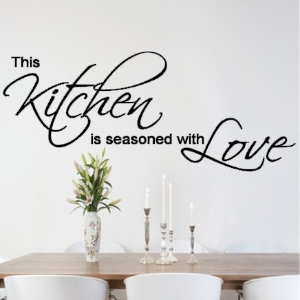 Vu0026C Designs Ltd (TM) This Kitchen Is Seasoned With Love Quote Kitchen Dining  Room Wall Sticker Wall Art Vinyl Wall Decal Wall Mural Part 54