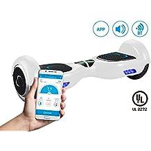 """SmartGyroX2, Patinete eléctrico con batería Samsung y certificado UL2272, color blanco, talla 6.5"""""""