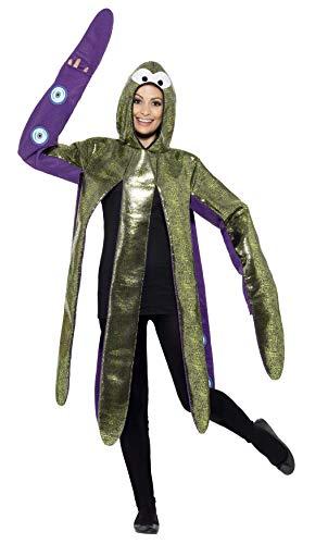Oktopus Kostüm - Smiffy's 43391 - Octopus Kostüm Schaum Bonded mit Kapuze Tabard