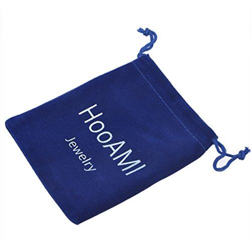 HooAMI Pince Clip A Cravate Simple Pratique Pour Homme -Lisse -Classique -Haute Qualite 43mmx5mm argent