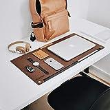NIVERA® Large PU Felt Laptop Desk Mate, Extended Gaming Mouse, Keyboard Pad, Desk