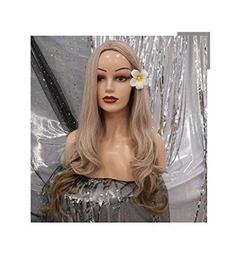 Gafas 26 pulgadas de largo peluca sintética moda DIY Natural Wave pelucas for mujeres resistente al calor parte Cosplay peluca 5 colores ( Color : Light blonde , Stretched Length : 26 inch )