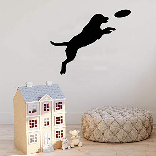 zhuziji Wandtattoo Cute Puppy Dog Wandaufkleber Cute Petshop Art Poster Abnehmbare Tier Dekoration Fensterbild Desi weiß 115x42cm