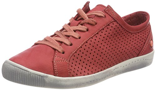 Softinos Damen ICA388SOF Sneaker, Rot (Red), 41 EU