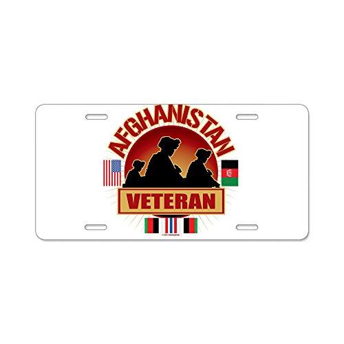 CafePress Afghanistan Veteran Bandiere-Targa in alluminio, Standard
