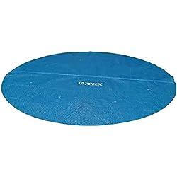 INTEX - Bâche à bulles Intex Ø 3.66 metres - Pour piscine tubulaire 5,45x2,74m - Epaisseur 160 microns - Bleue