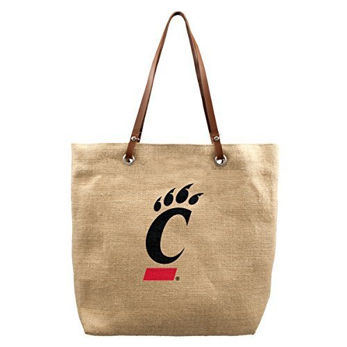 ncaa-cincinnati-bearcats-burlap-market-tote-17-x-45-x-14-inch-natural-by-littlearth