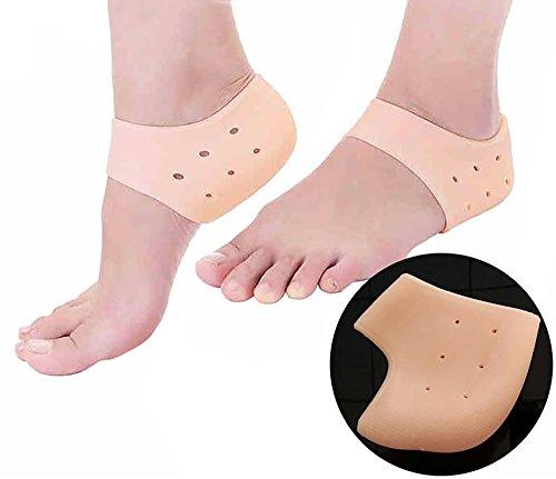 Peecure Silicone Gel Heel Pad Socks For Heel Swelling Pain...