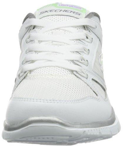 Skechers Flex AppealSpring Fever, Baskets Basses Femme blanc (WSL)