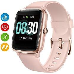 UMIDIGI Smart Watch Uwatch3 Fitness Tracker avec 5ATM étanche Toute la journée fréquence Cardiaque et Suivi d'activité, Smartwatch pour Hommes Femmes Compatible avec iOS Android