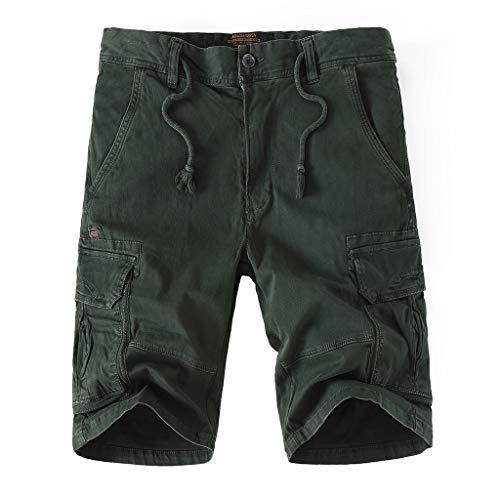 Hosen Shorts Freizeithosen Strumpfhosen Multi Pocket Spring Overalls Herren Cool Summer Hot Freizeithose Armeegrün 32 -