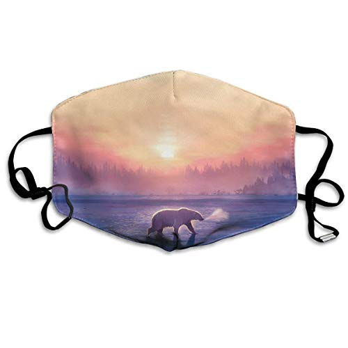 Masken, Masken für Erwachsene, Polar Bear Sunrise Reusable Anti Dust Face Mouth Cover Mask Protective Breath Healthy Safety -