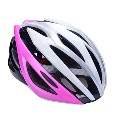 Road bike cycling&Skates helmet adult men women bicycle safety helmet in Pink Size:53-58cm from Guanshi