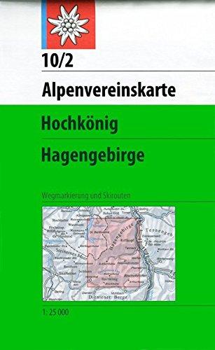 Hochkönig - Hagengebirge: Mit Wegmarkierungen und Skirouten. Topographische Karte 1:25.000 (Alpenvereinskarten)