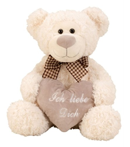Bär – Plüschbär – Kuschelbär mit Schleife und Herz – Ich liebe Dich – 33 cm