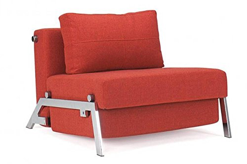 INNOVATION LIVING SILLA CAMA DESIGN SOFABED CUBED ROJO CONVERTIBLE 200* 96