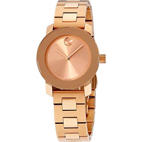 Movado Women's Bold 30mm Gold Plated Bracelet Swiss Quartz Watch 3600435