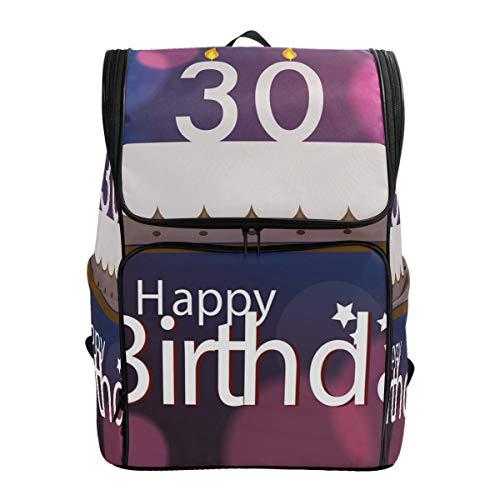 DINANY Stampa astratta delle candele della torta di compleanno Zaino per computer Studente da viaggio d'affari Borsa da passeggio Portatile da campeggio personalità universitaria all'aperto