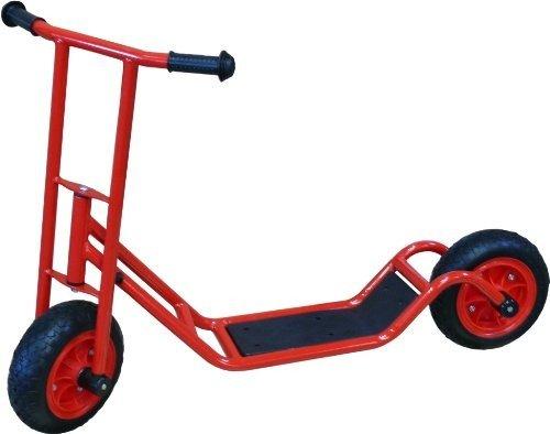 Löwenherz Roller 50602, Kinder Roller groß ab 4 Jahre, ultimativer stabiler Scooter, Lenkerhöhe 82 cm, Farbe rot, TÜV geprüft, 5 Jahre Garantie
