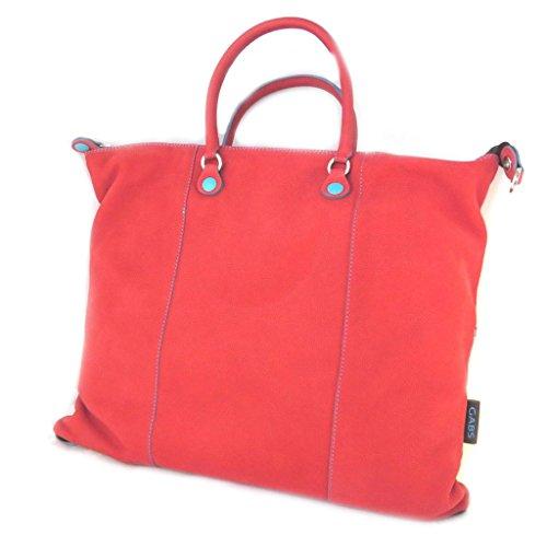 Borsa in pelle 3 in 1 rosso 'Gabs'(l)- 43x36x2 cm.