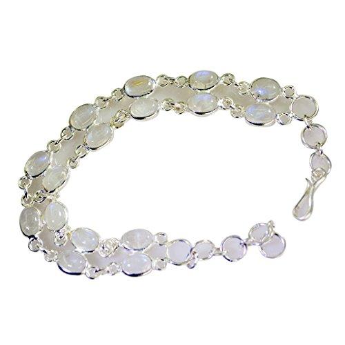 Riyo arcobaleno argento moda vittoriana braccialetto l 7.5in sbrarmo-64005