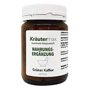 Kräutermax Grüner Kaffee Kapseln Hochdosiert 1 x 60 Stk. Grüne Kaffeebohnen Extrakt mit Chlorogensäure
