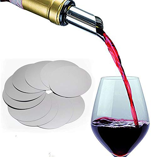 Maiyaduo disco versatore per vino set di 10 - pour beccucci salvagoccia - sottile flessibile e riutilizzabile Drop stop dischi