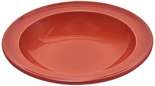 Emile Henry Eh328871 Assiette Creuse Céramique Orange Brique 22 X 22 X 4 cm