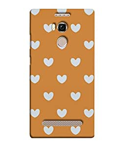 Fuson Designer Back Case Cover for Gionee Elife E8 (Love heart Girl Valentine Three Hearts)