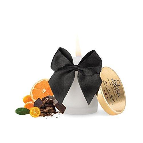 Melt My Heart Vela de Masaje Besable Aroma Chocolate Negro y Citrícos - Cosmética Erótica 100% Natural 100% Vegana 0% Parabenos