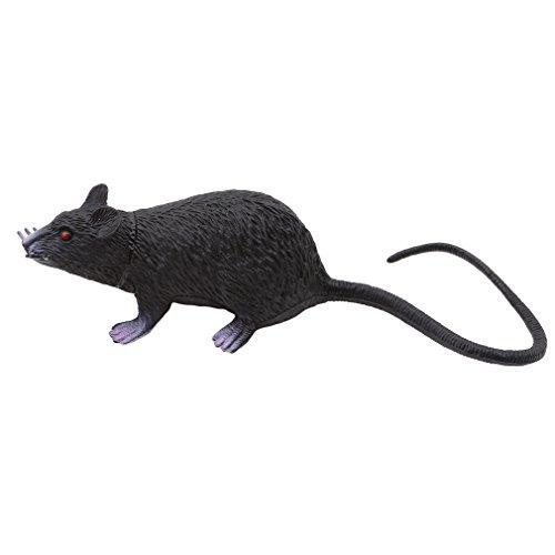 LnLyinl lnlyin Kunststoff Ratten Maus Modell Figuren Kinder Halloween Tricks Streiche Requisiten Spielzeug, PVC, Schwarz, M