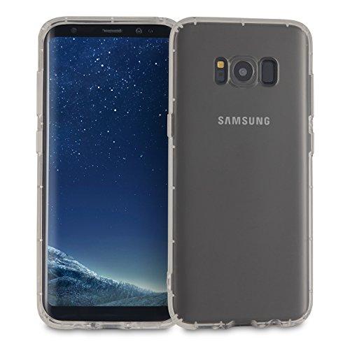MyGadget Hülle für Samsung Galaxy S8 (2017) - TPU Crystal Case klar Schutzhülle - Backcover slim Handyhülle Silikon Cover dünne Silikonhülle - Transparent Crystal Case Grau