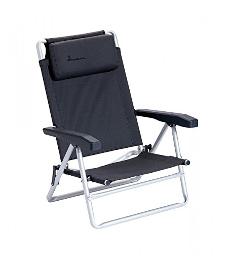 2 x Isabella Chaise de plage – avec sac de transport – pour charge maximale 100 kg – Beach Chair, gris foncé – Distribution de Holly produits Stabielo seulement aussi longtemps de suffit de conservation