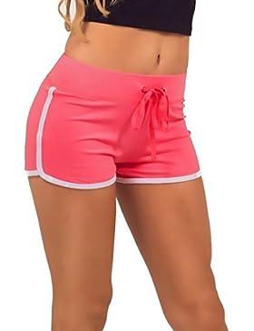 Pantalones Cortos Mujer Deporte Verano Outdoor Casual Deportes Pantalones Cortos Pantalones Cortos Para Corriendo...
