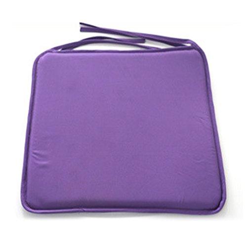 Favolook, Quadratische Sitzkissen zum Anbinden, Wasserdicht, ideal für Esszimmer, Sofas, Autos, Büro, violett, Free Size