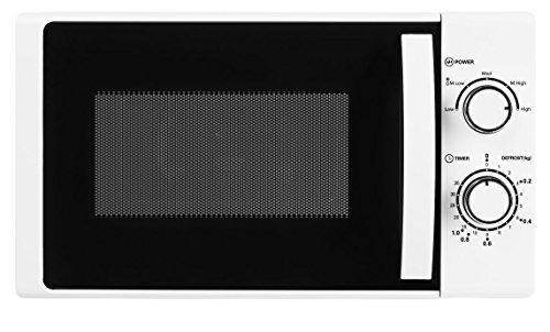 MEDION MD 16945 Mikrowelle/ca. 700 Watt Leistung/ca. 17 Liter Kapazität / 5 Leistungsstufen/Auftaufunktion / 35 Minuten Timer/lackiertes Metallgehäuse/weiß