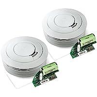 Conjunto de 2 detectores de humo Ei650W y el módulo de radio Ei650M