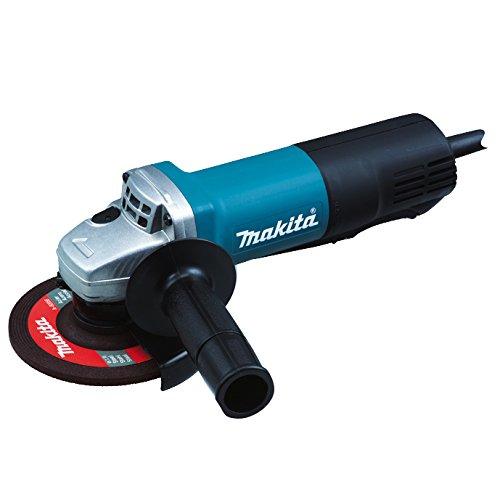 Makita 9558PBGY Winkelschleifer 125 mm, 840 W mit Paddelschalter, Schwarz, Blau