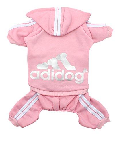 Scheppend Adidog Four legs Pet Outfits Dog Cat Hoodies Sweater Coat Puppy Sport Apparel T Shirt Warm Clothes Sweatshirt Pink XXL