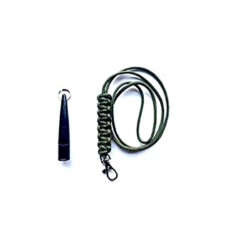 Acme 210.5 Dog Whistle & Lanyard with Cobra Stitch Knot 3mm in Green